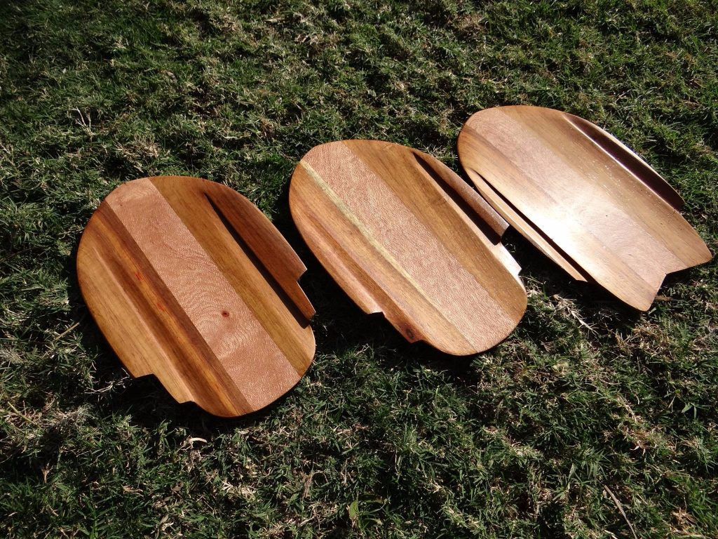Puka Handplanes with concave bottom