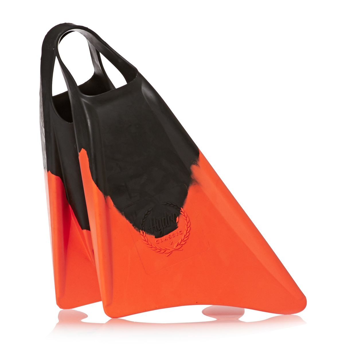 Hydro Classic Bodyboard Fins - Black/ Orange