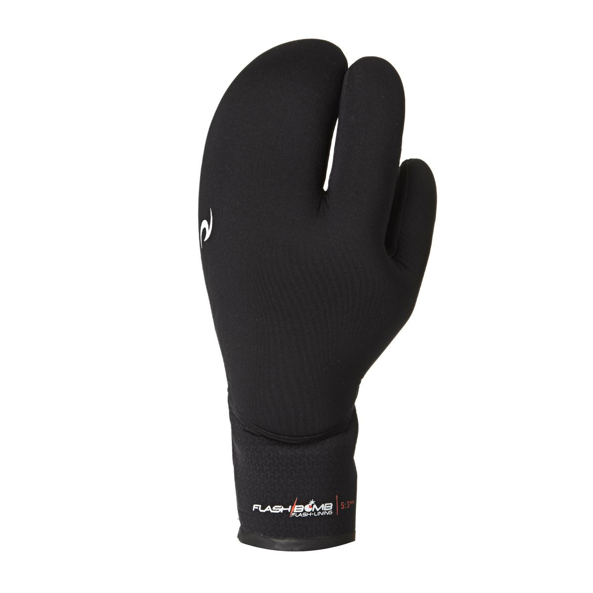 Rip Curl Flashbomb 5/3mm 3 Finger Wetsuit Gloves - Black