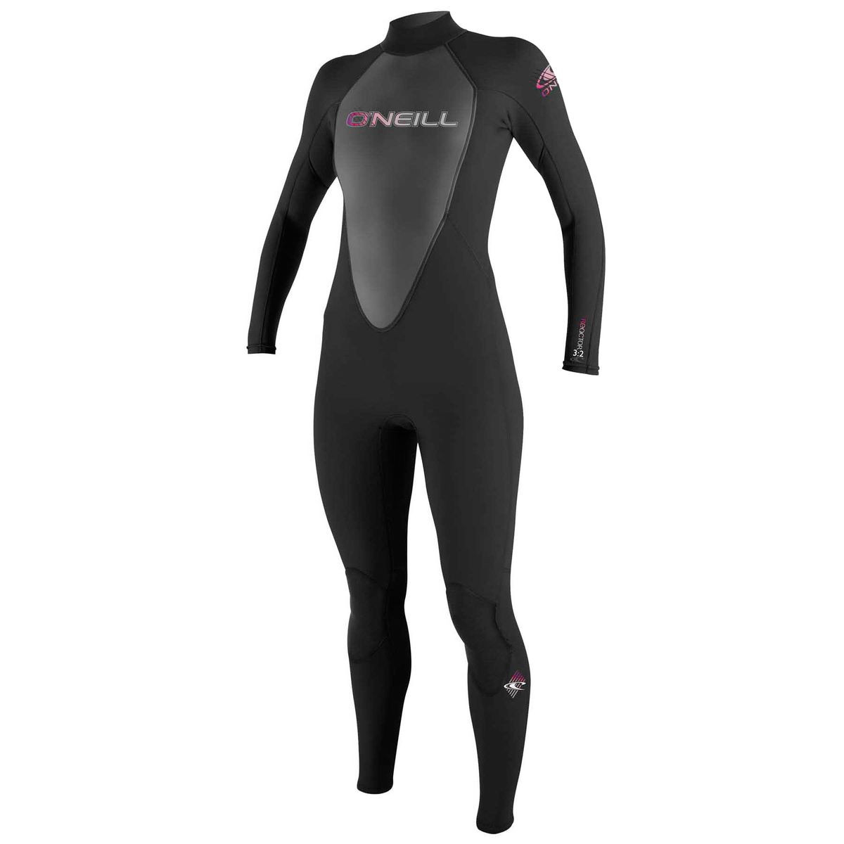 O'Neill Women's Reactor 3/2mm Back Zip Wetsuit - Black