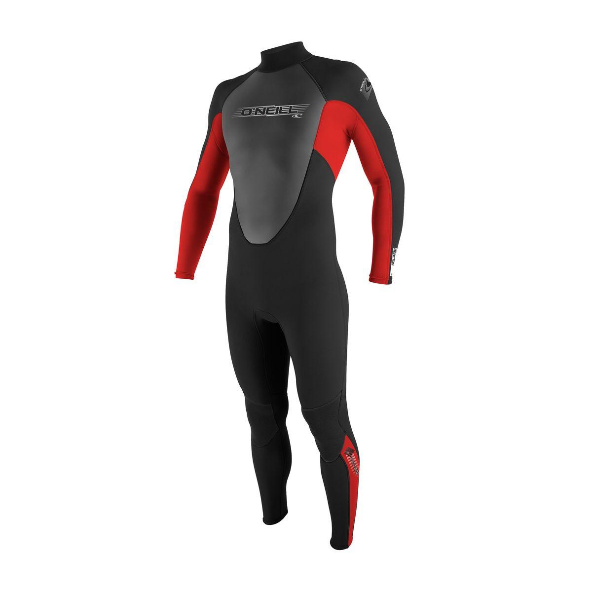O'Neill Junior Reactor 3/2mm Back Zip Wetsuit - Black/Red/Graphite