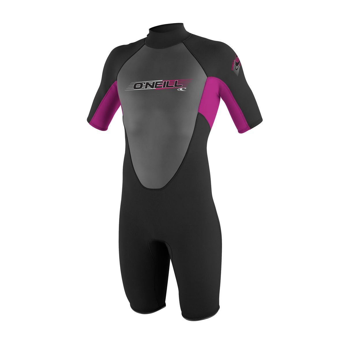 O'Neill Junior Reactor 2mm Shorty Wetsuit - Black/Fox Pink