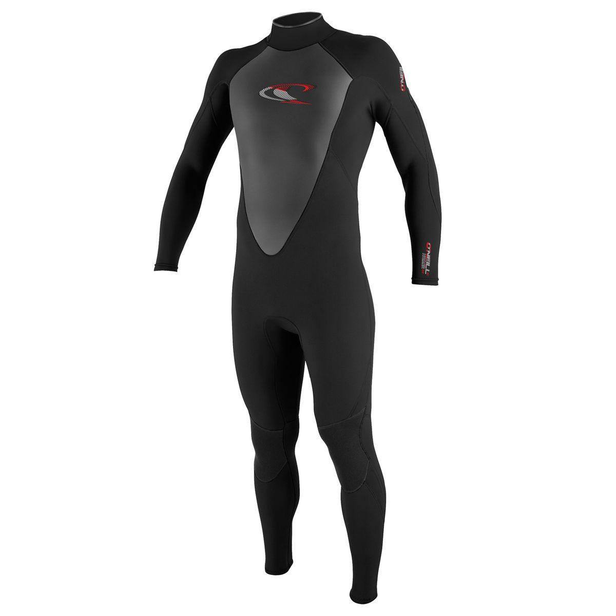 O'Neill Hammer 3/2mm Back Zip Wetsuit - Black/Black/Black