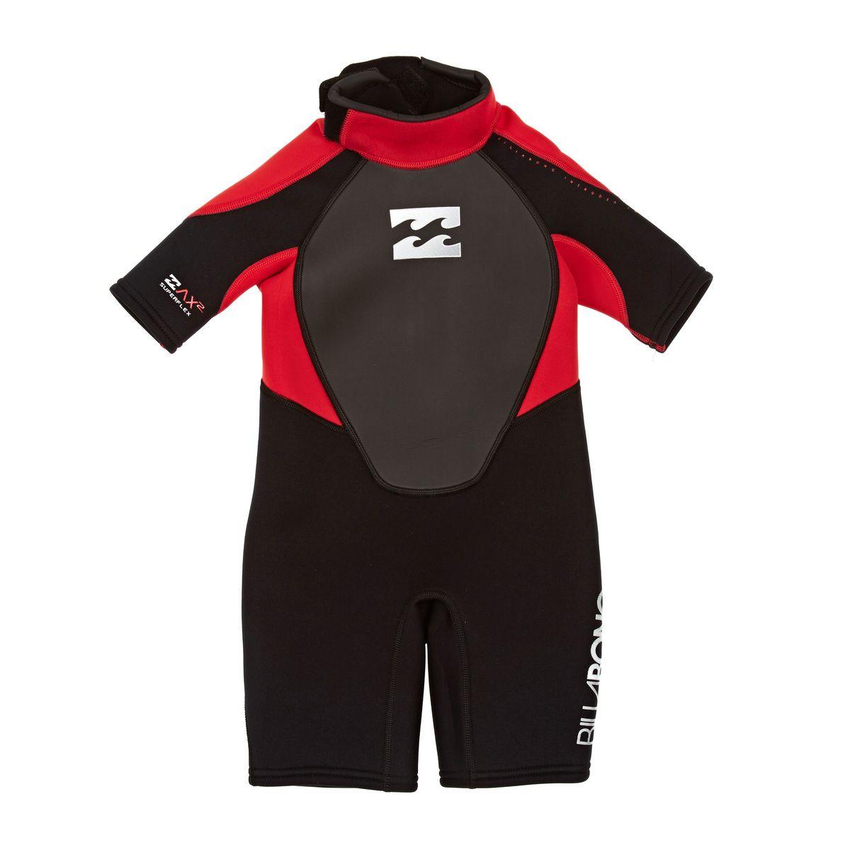 Billabong Toddler Intruder 2mm Shorty Wetsuit - Red