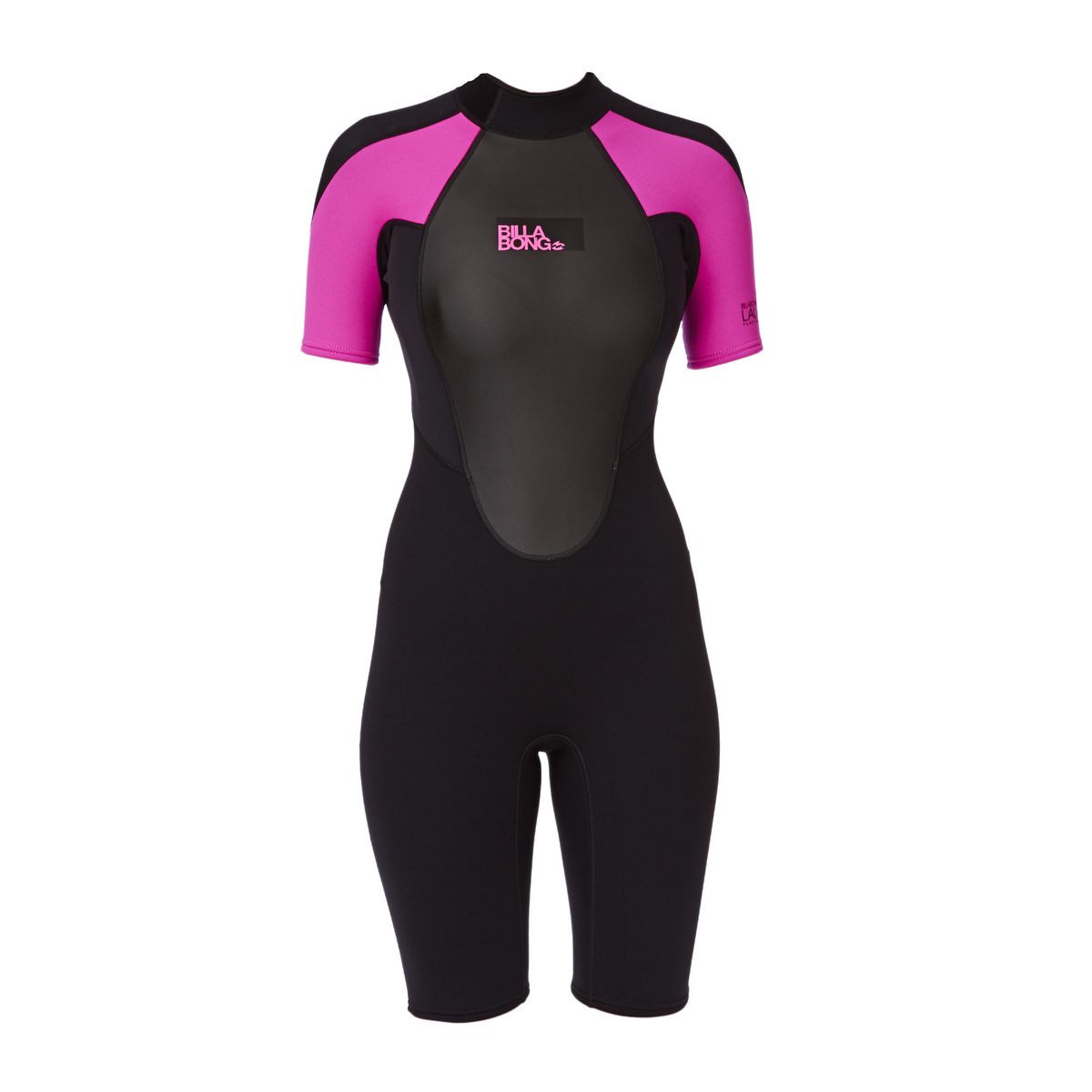 Billabong Launch 2mm Back Zip Shorty Wetsuit - Hot Pink