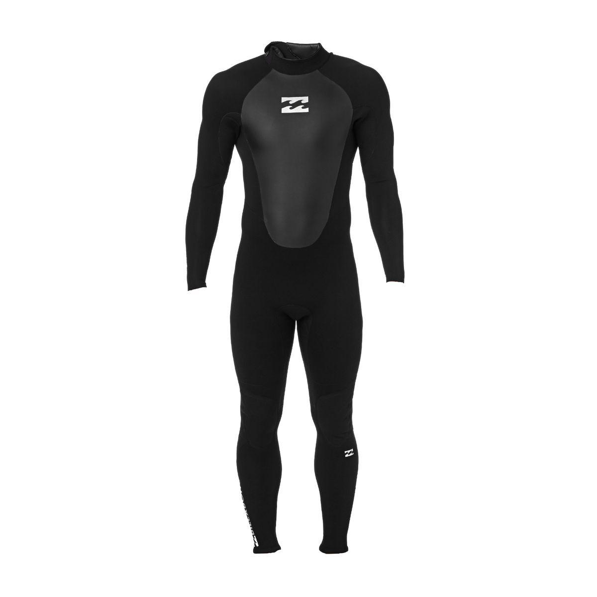Billabong Intruder 3/2mm Back Zip Fl Wetsuit - Black