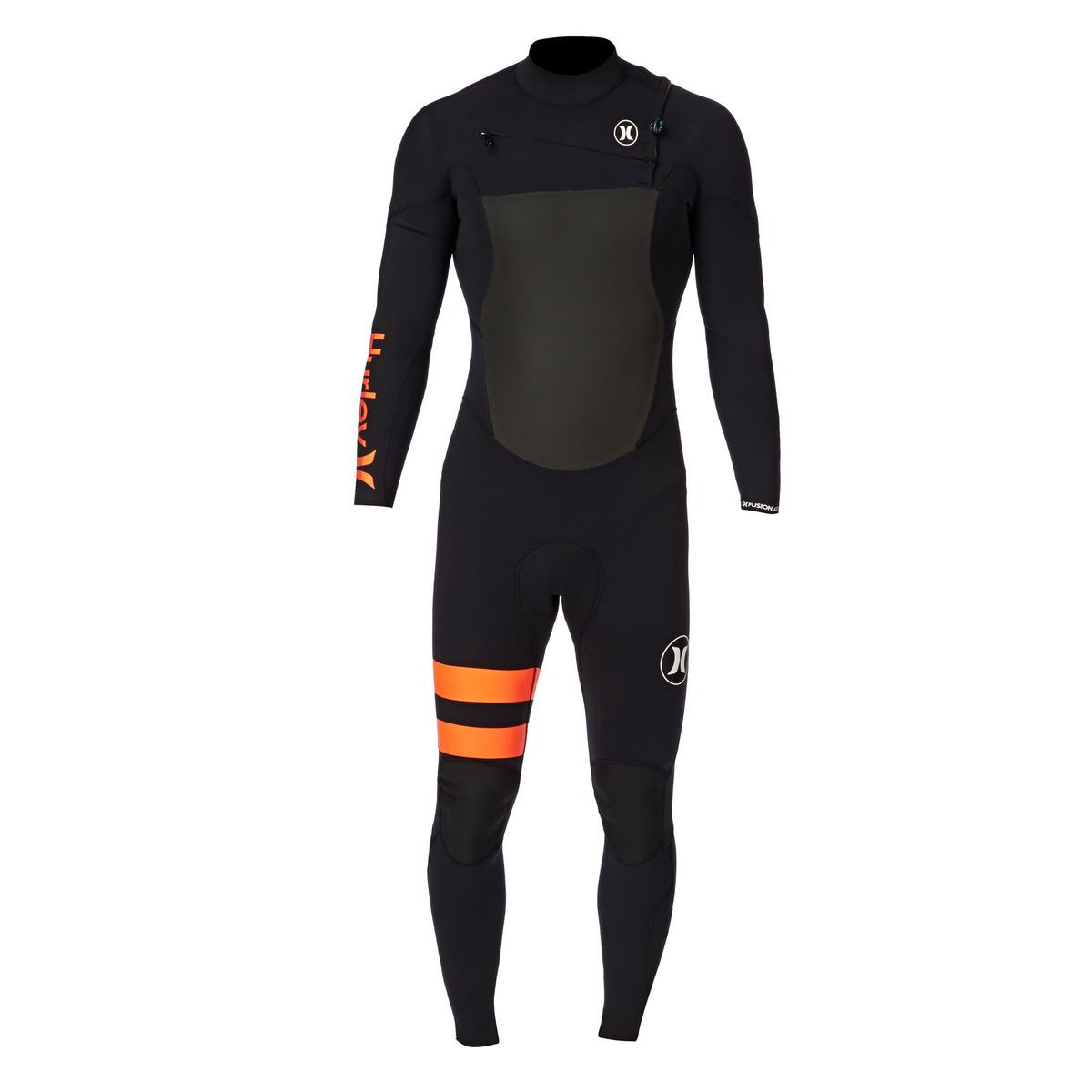 Hurley Fusion 4/3mm Chest Zip Wetsuit - Black