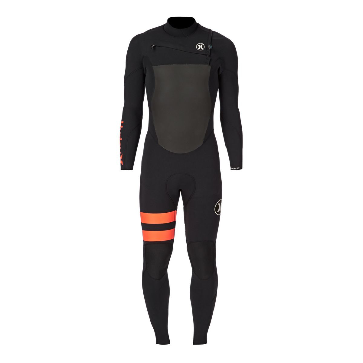 Hurley Fusion 5/3mm Chest Zip Wetsuit - Black
