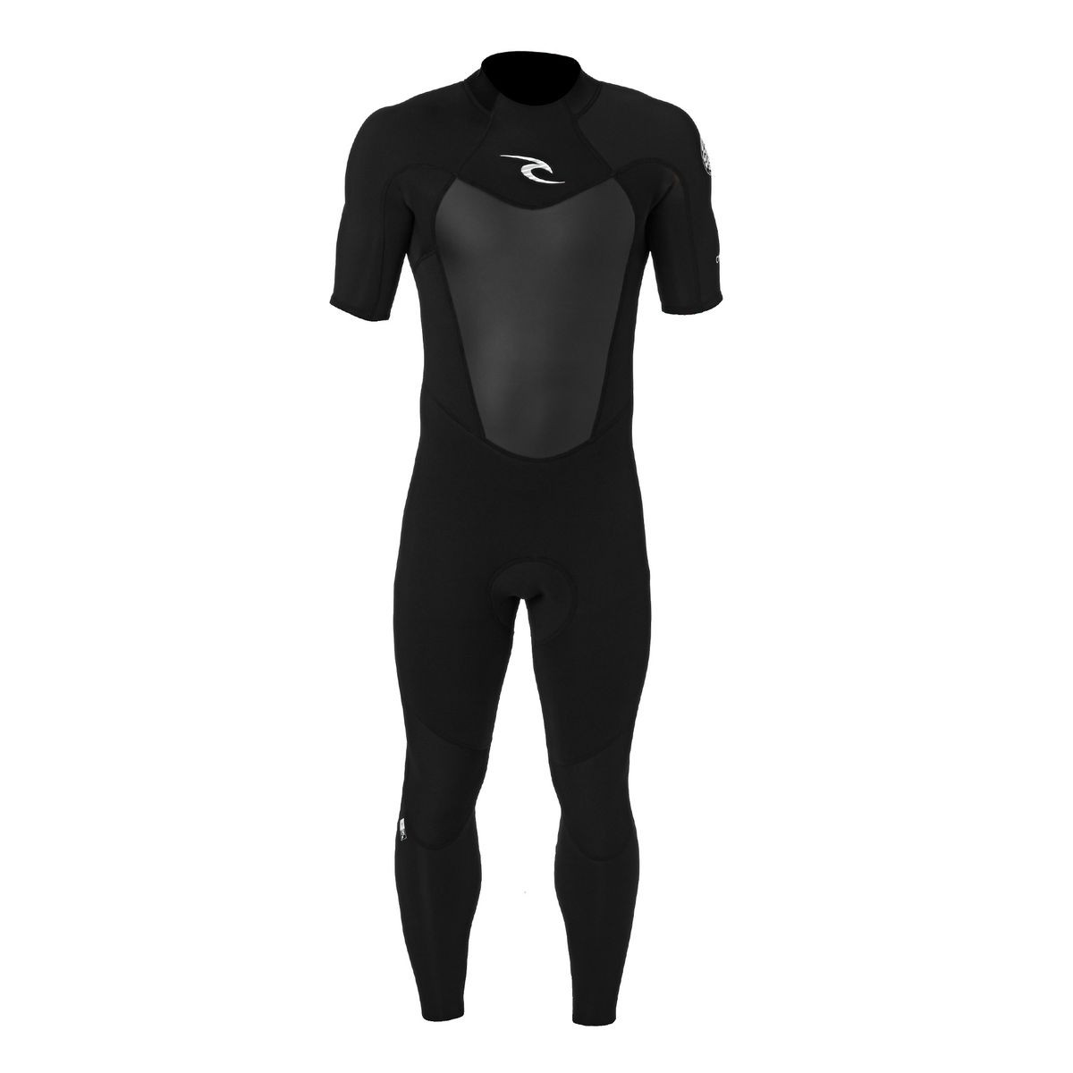 Rip Curl Omega 2/2mm Short Sleeve Back Zip Wetsuit - Black