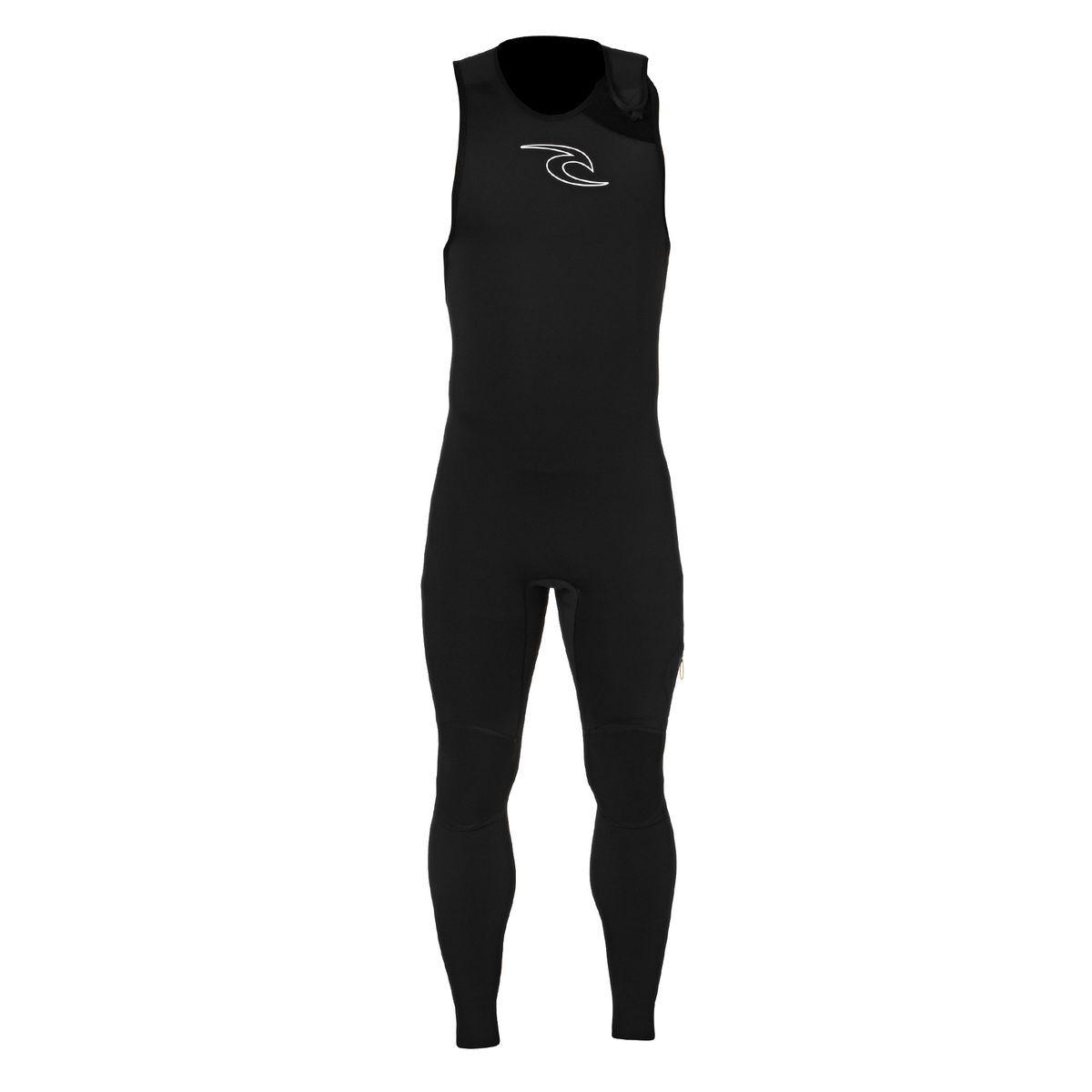 Rip Curl Dawn Patrol 1.5mm Zipperless Long John Wetsuit - Black