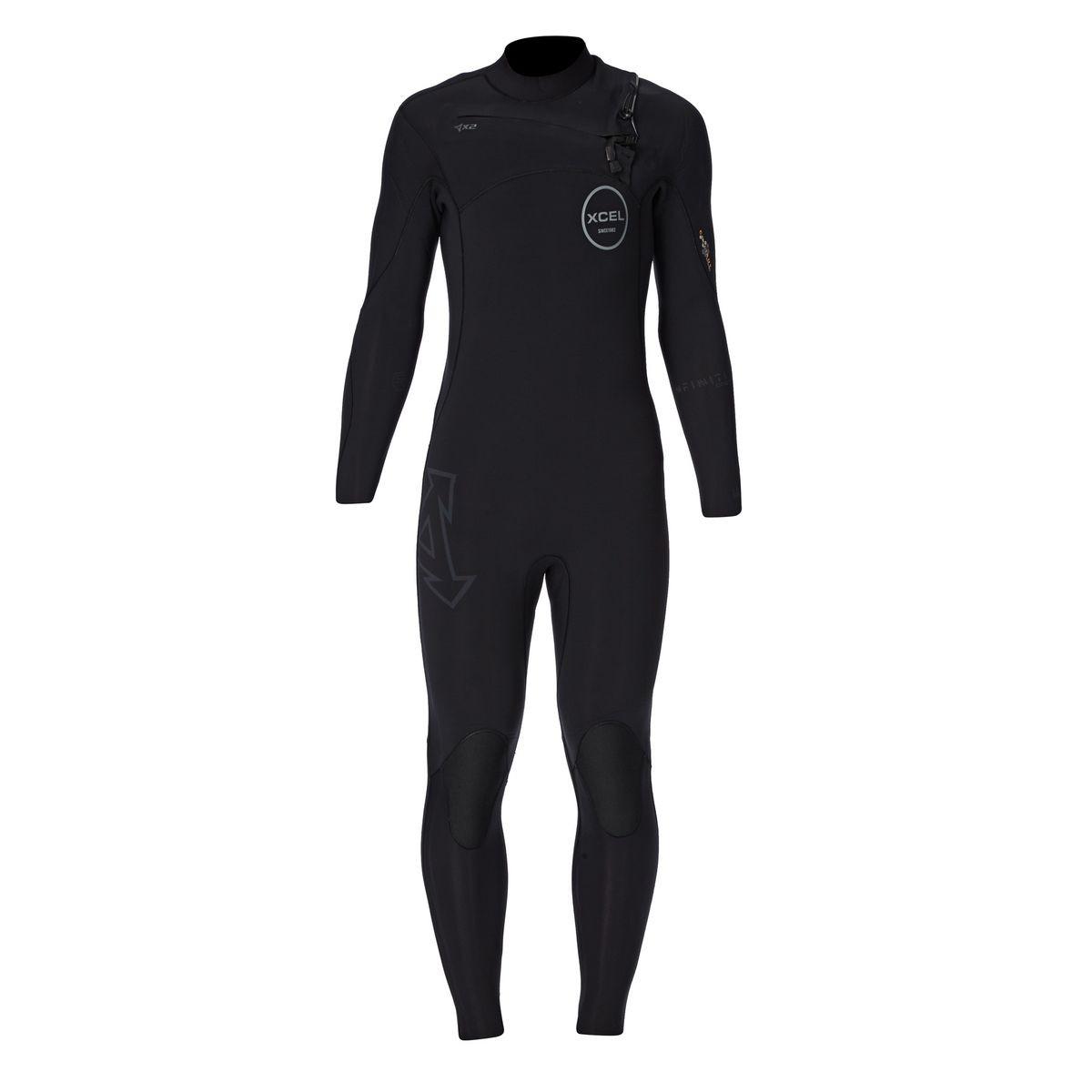 Xcel Infiniti Comp Pro 5mm Chest Zip Wetsuit - Black