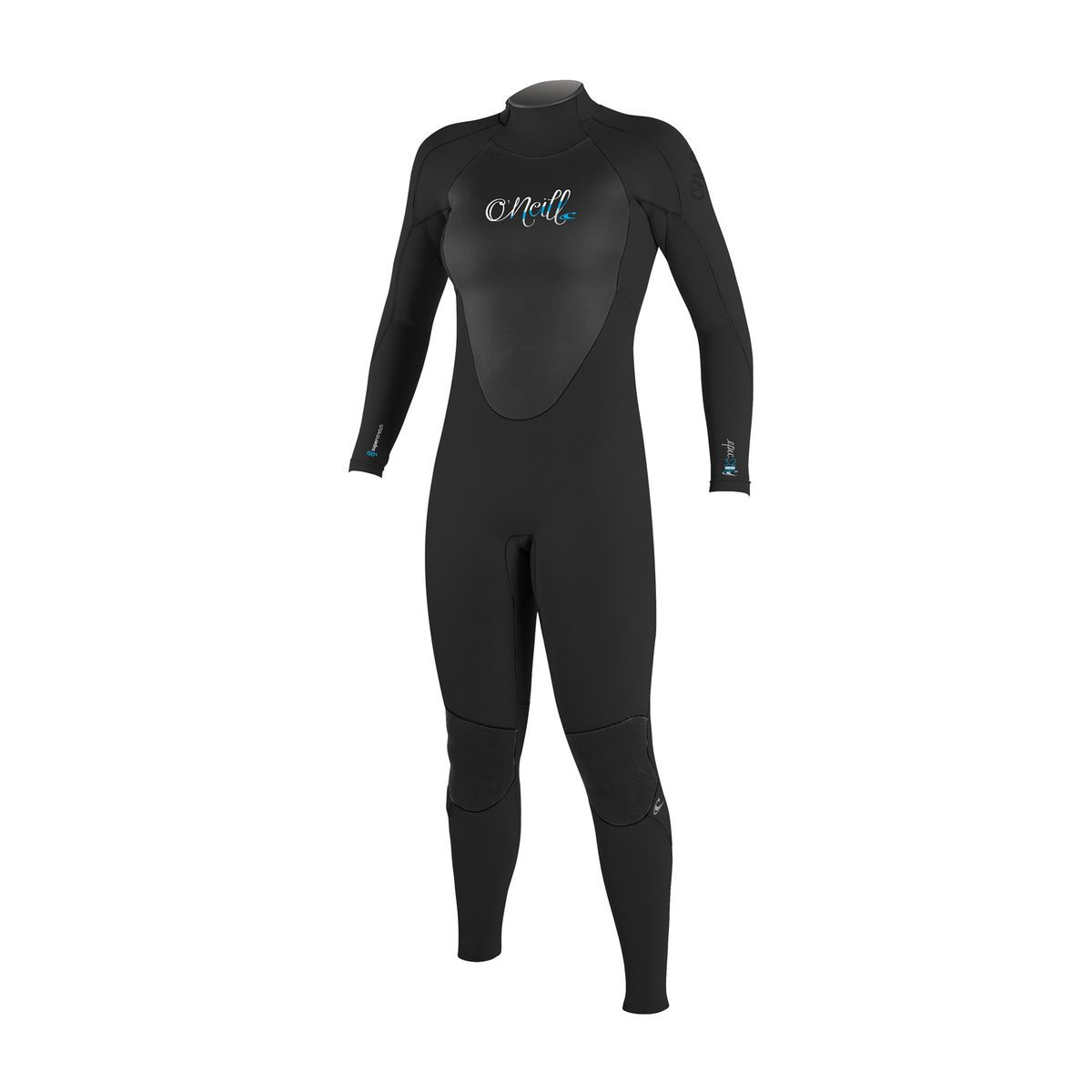 O'Neill Womens Epic 4/3mm Back Zip Wetsuit - Black