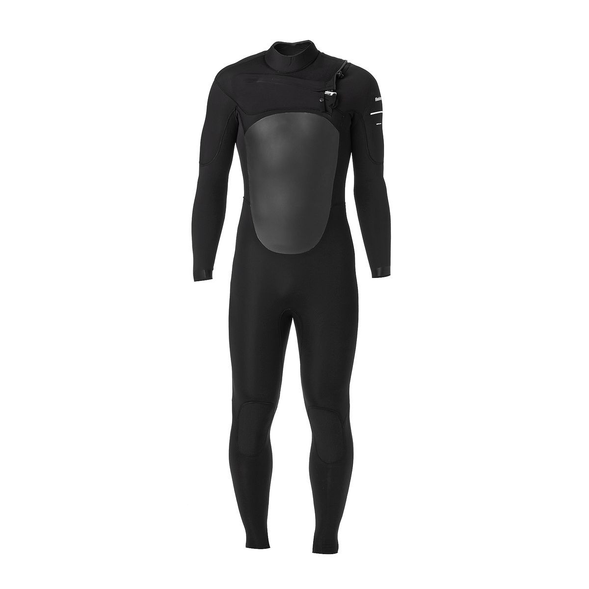 Finisterre Nieuwland 4/3mm Chest Zip Wetsuit - Black