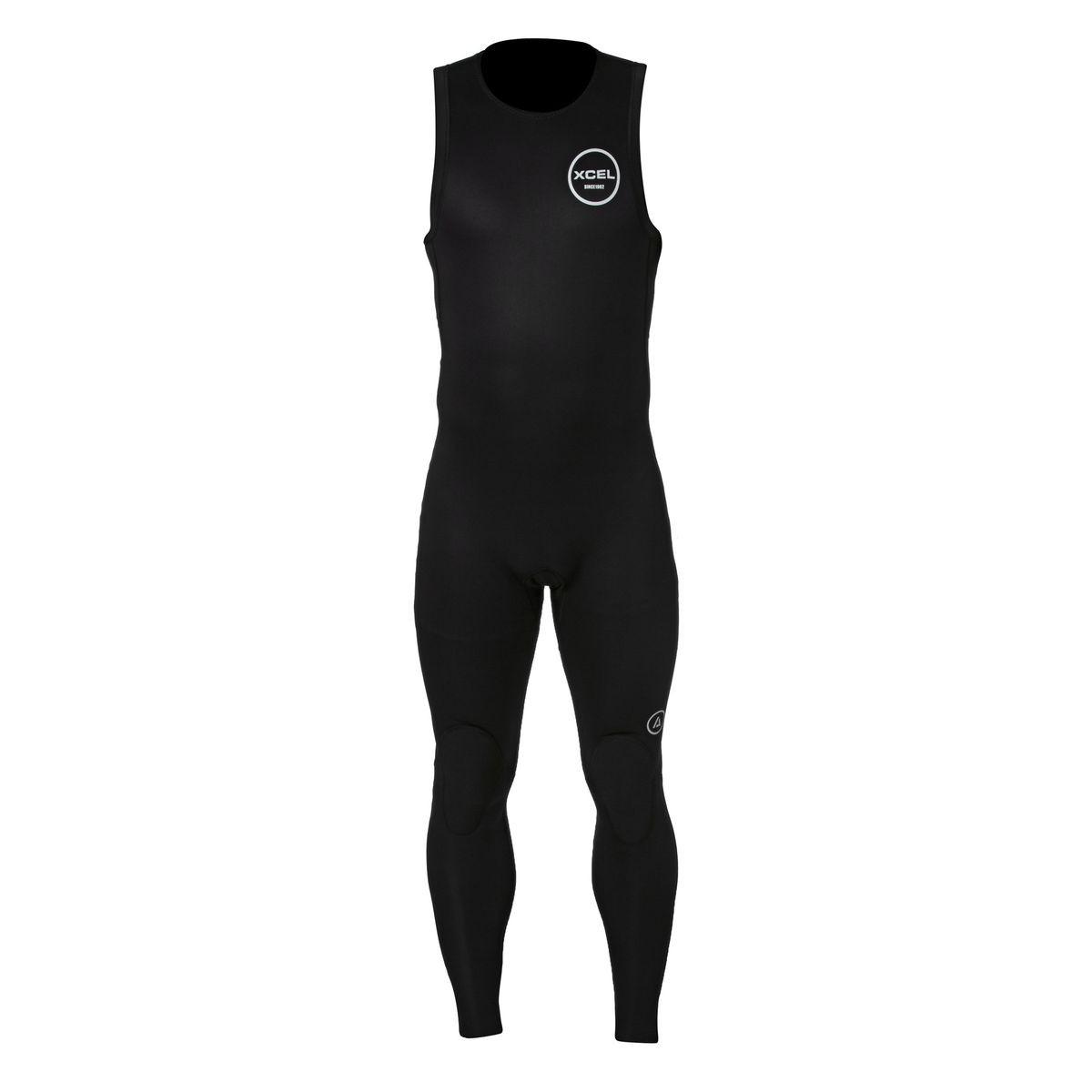 Xcel Axis 2mm Back Zip Long John Wetsuit - Black