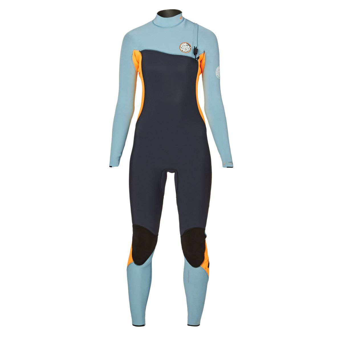 Rip Curl Womens G-Bomb Pro 3/2mm 2017 Zipperless Wetsuit - Slate/ Orange
