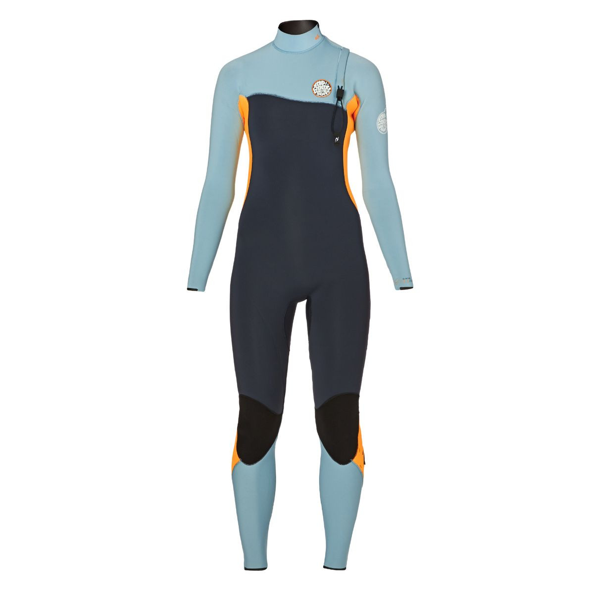 Rip Curl Womens G-Bomb 4/3mm 2017 Zipperless Wetsuit - Slate/ Orange