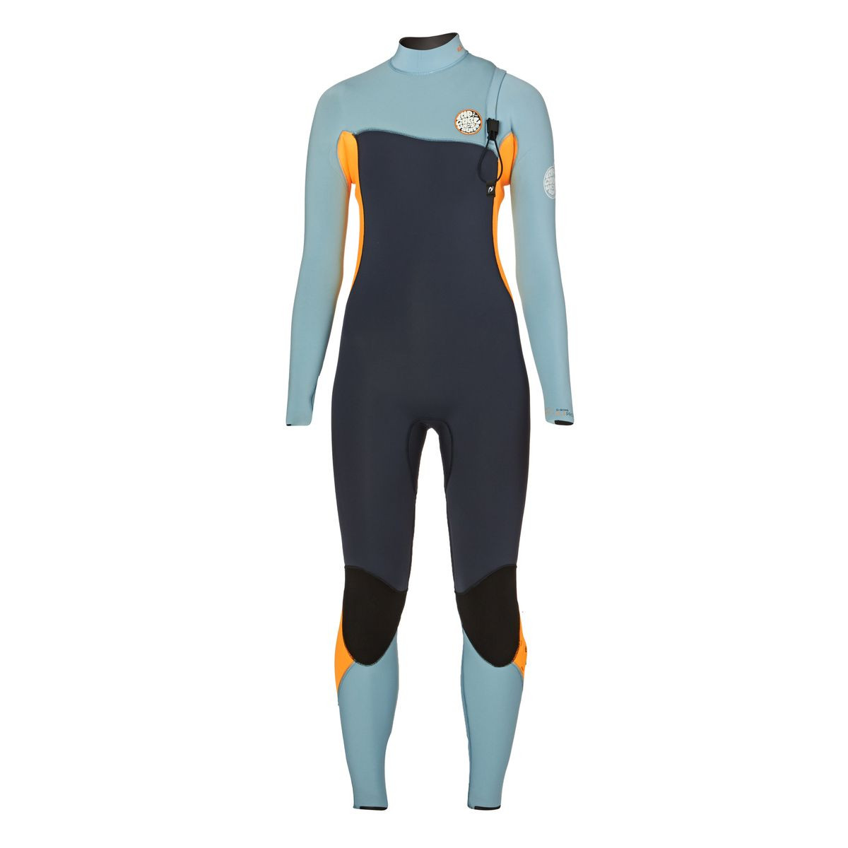 Rip Curl Womens G-Bomb Pro 5/3mm 2017 Zipperless Wetsuit - Slate/ Orange