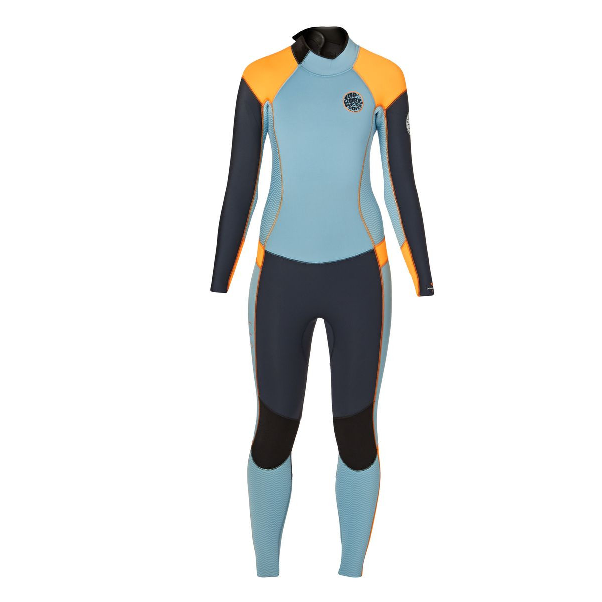 Rip Curl Womens Dawn Patrol 5/3mm 2017 Back Zip Wetsuit - Slate/ Orange