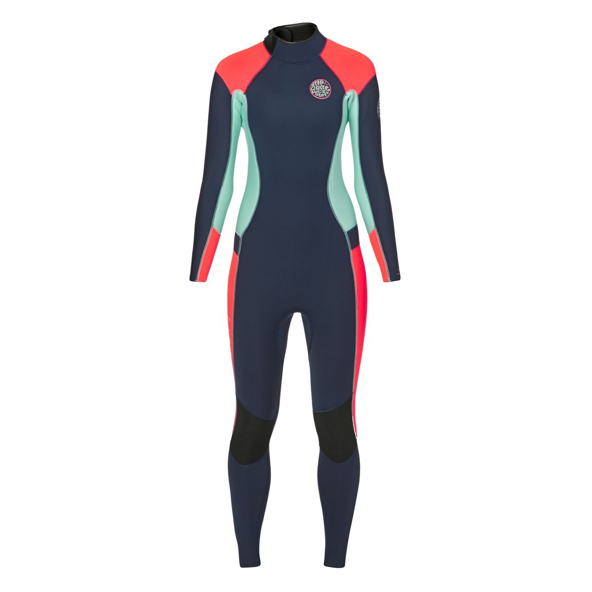 Rip Curl Womens Dawn Patrol 4/3mm 2017 Back Zip Wetsuit - Navy