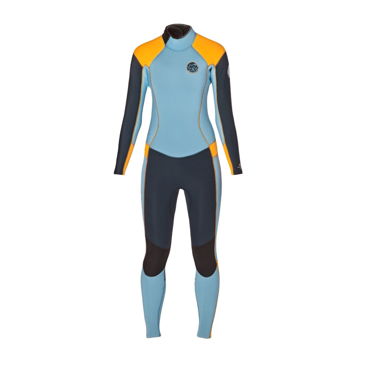 Rip Curl Womens Dawn Patrol 4/3mm 2017 Back Zip Wetsuit - Slate/ Orange