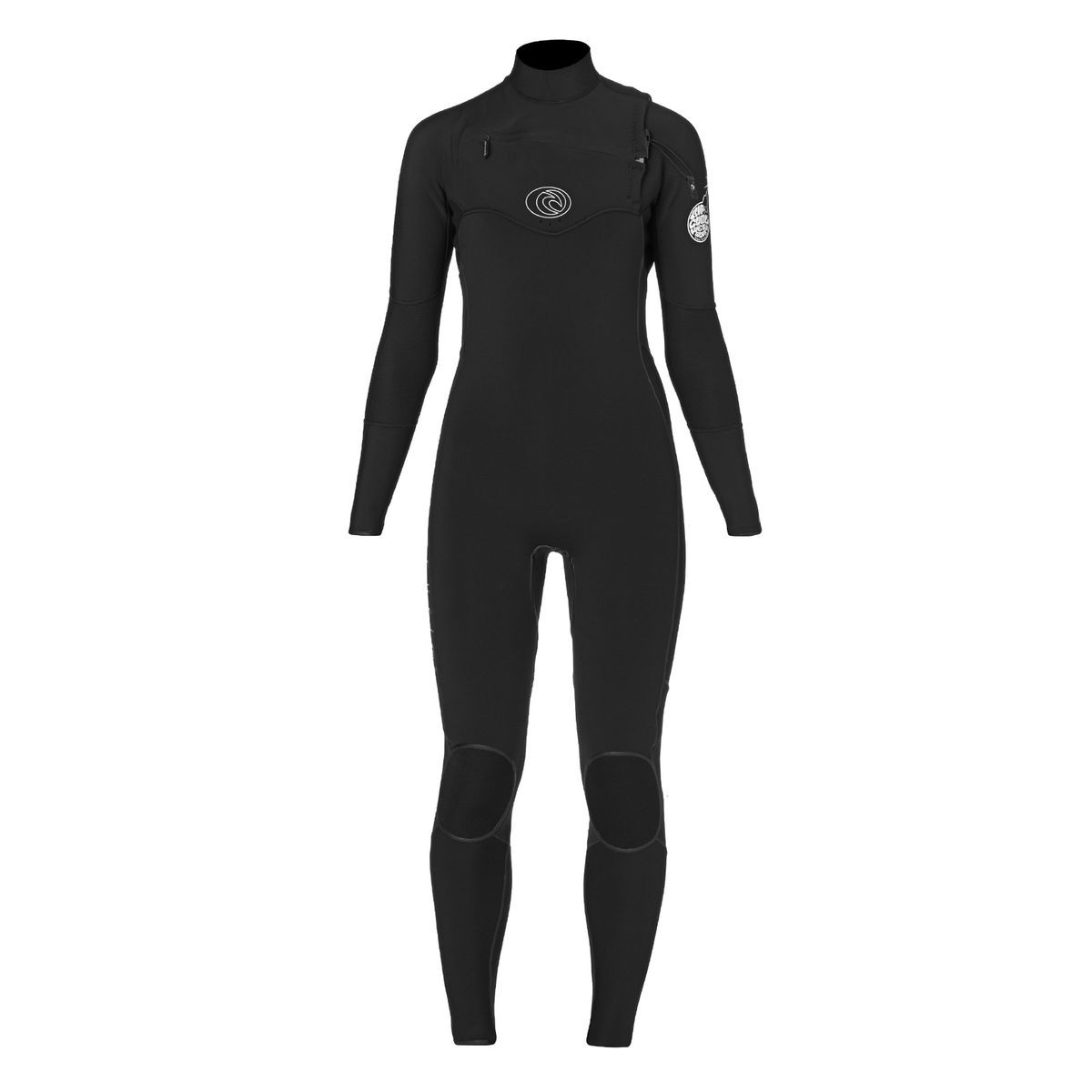 Rip Curl Womens Flashbomb 5/3mm 2017 Chest Zip Wetsuit - Black