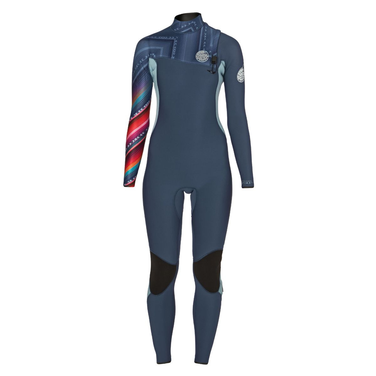 Rip Curl Womens G-Bomb 4/3mm 2017 Zipperless Wetsuit - Blue