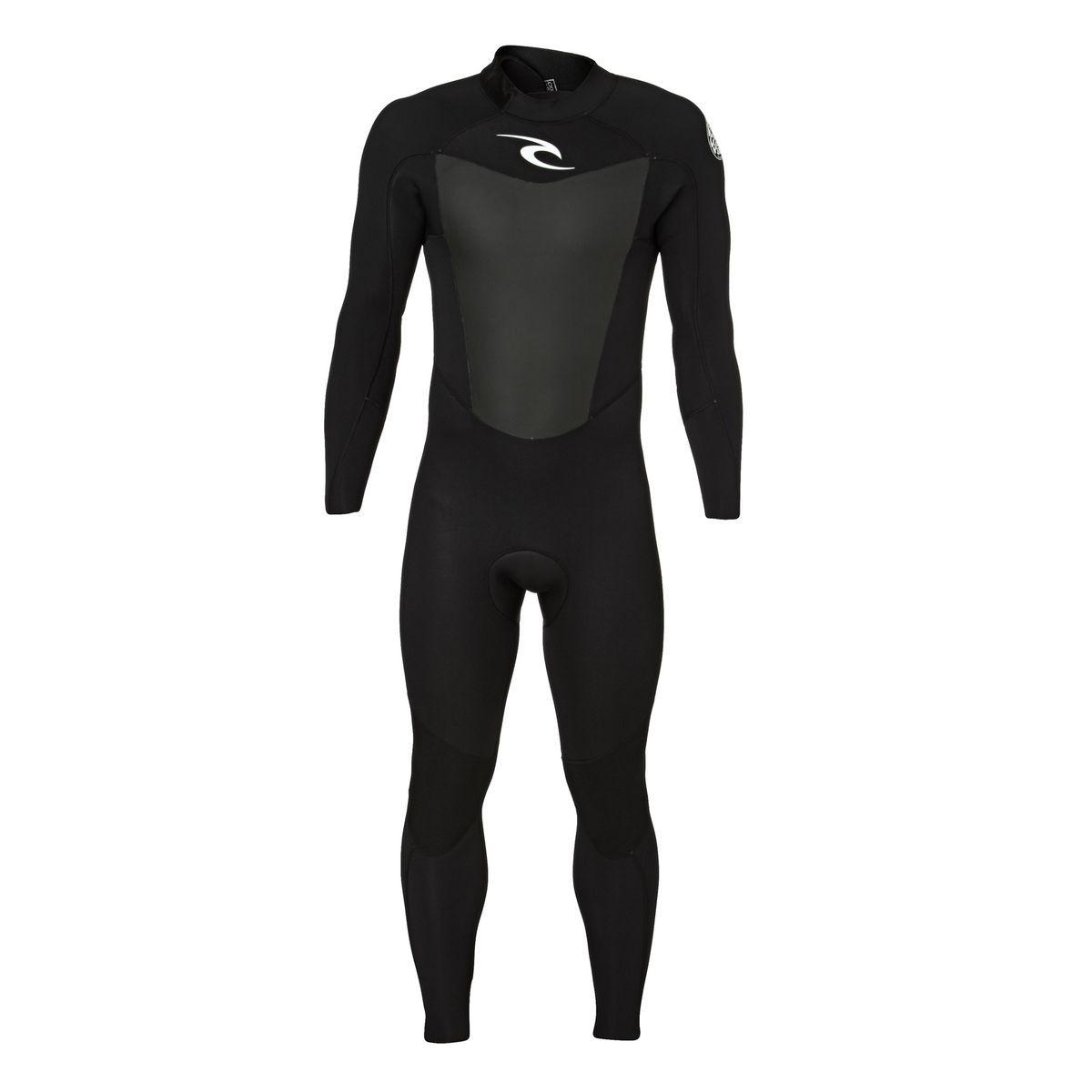 Rip Curl Omega 4/3mm 2017 Back Zip Wetsuit - Black