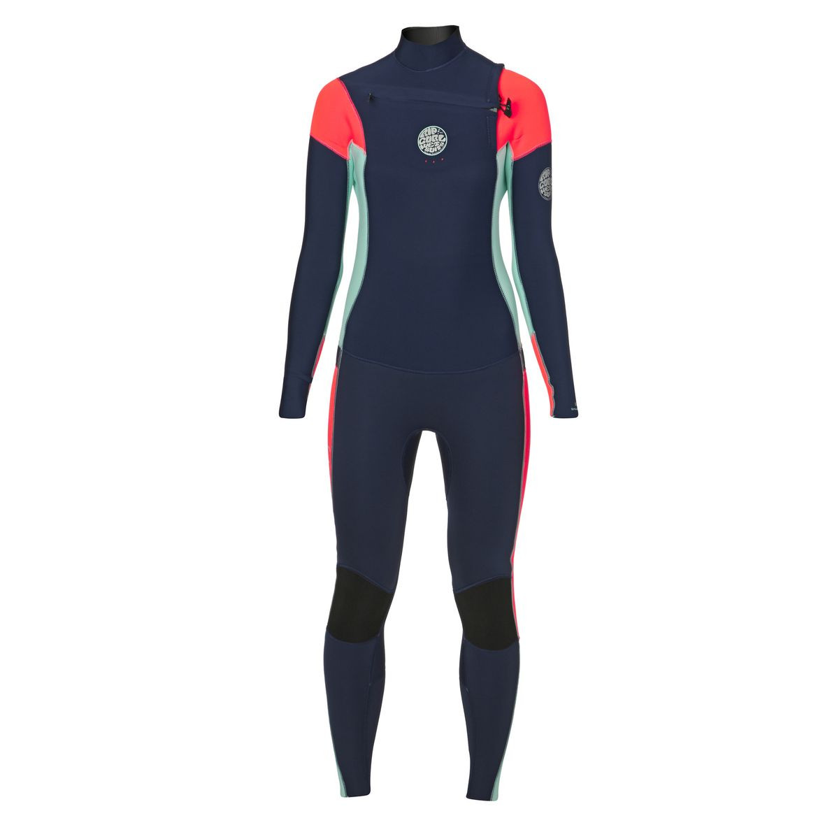 Rip Curl Womens Dawn Patrol 4/3mm 2017 Chest Zip Wetsuit - Navy