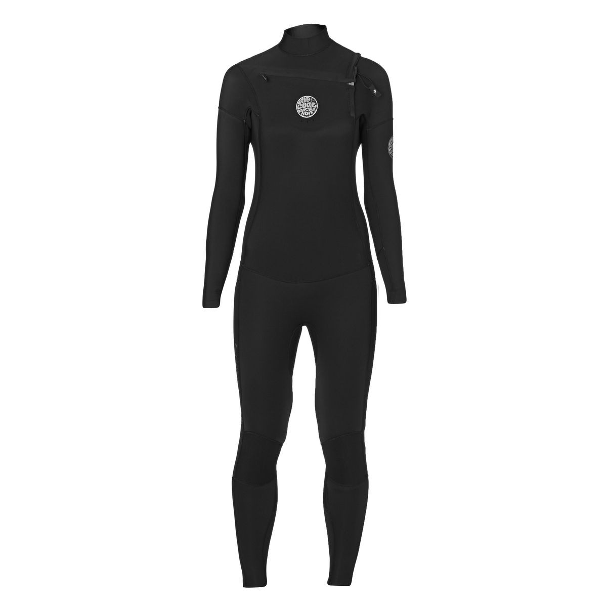 Rip Curl Womens Dawn Patrol 4/3mm 2017 Chest Zip Wetsuit - Black
