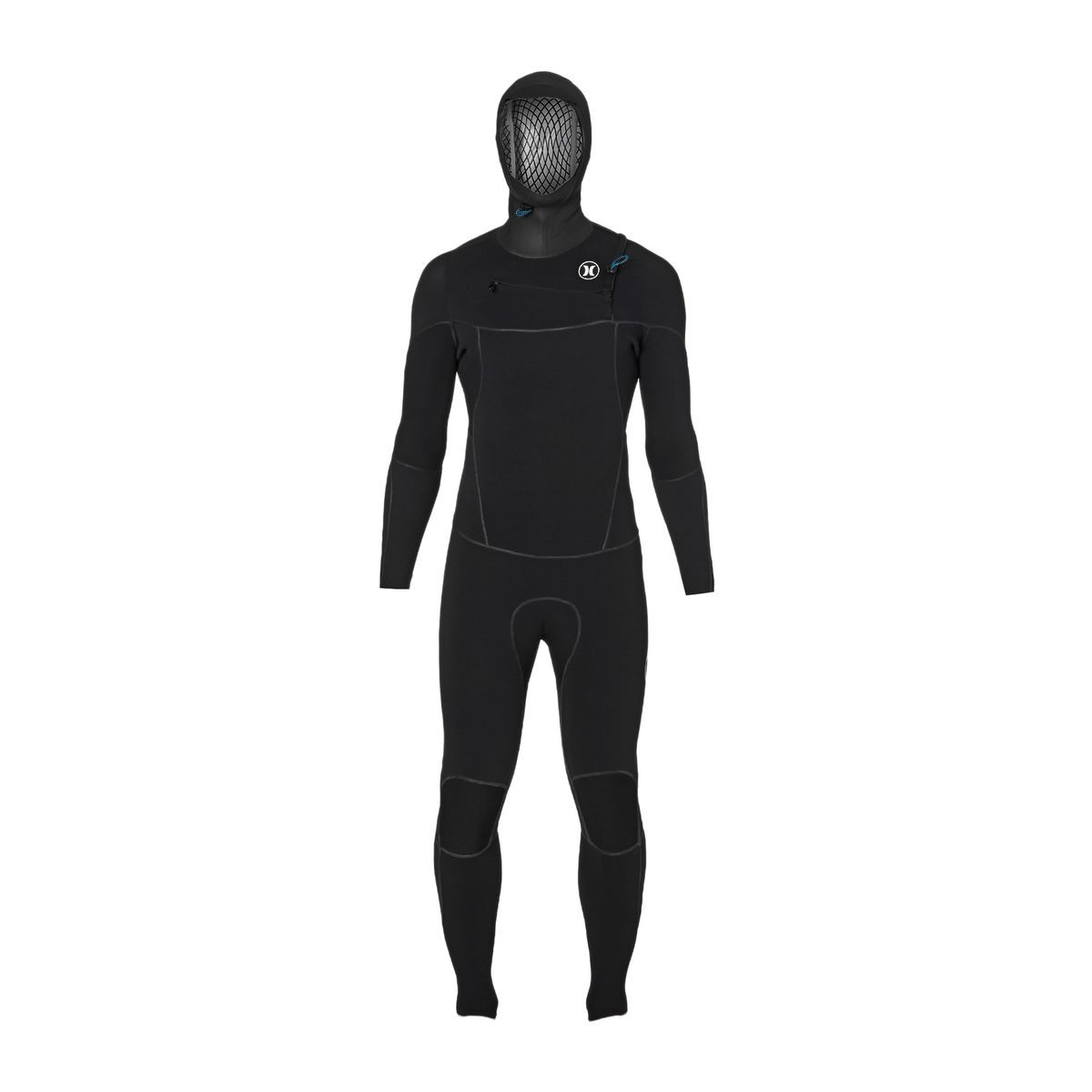 Hurley Phantom 4/3mm 2017 Chest Zip Hooded Wetsuit - Black
