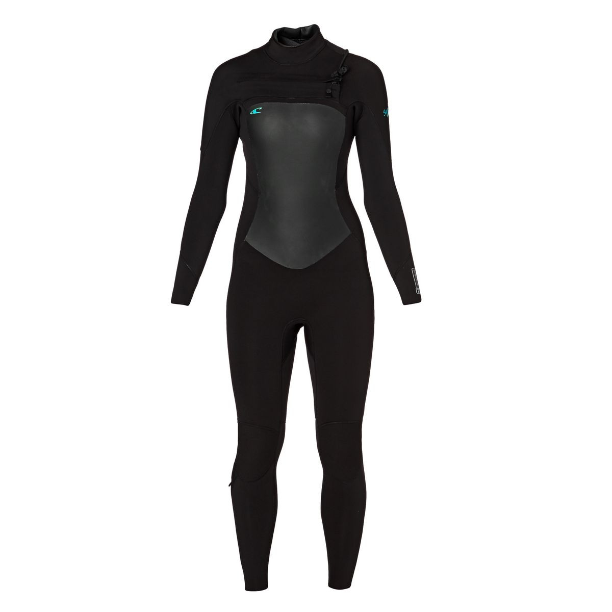 O'Neill Womens Superfreak 5/4mm 2017 Chest Zip Wetsuit - Black/ Black/ Black