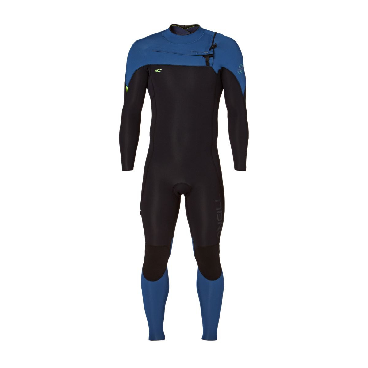 O'Neill Hyperfreak 4/3mm 2017 Chest Zip Wetsuit - Black/ Deep Sea/ Day Glow