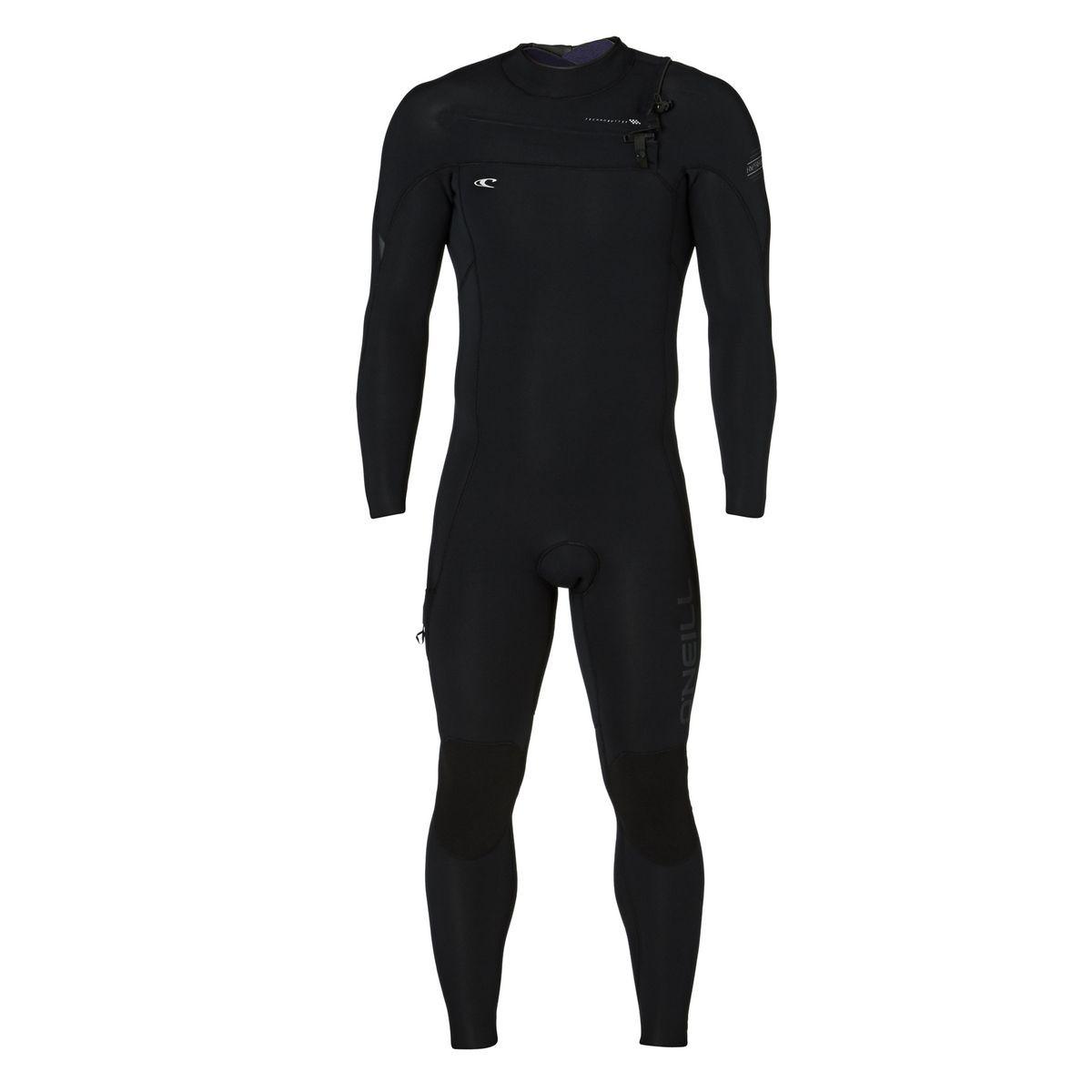 O'Neill Hyperfreak 5/4mm 2017 Chest Zip Wetsuit - Black/ Black/ Graphite