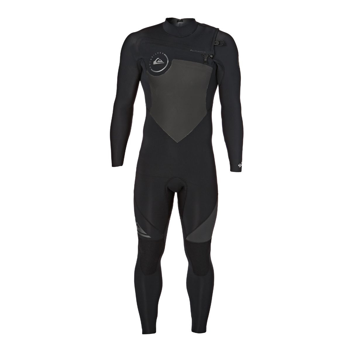 Quiksilver Syncro 4/3mm 2017 Chest Zip Wetsuit - Black