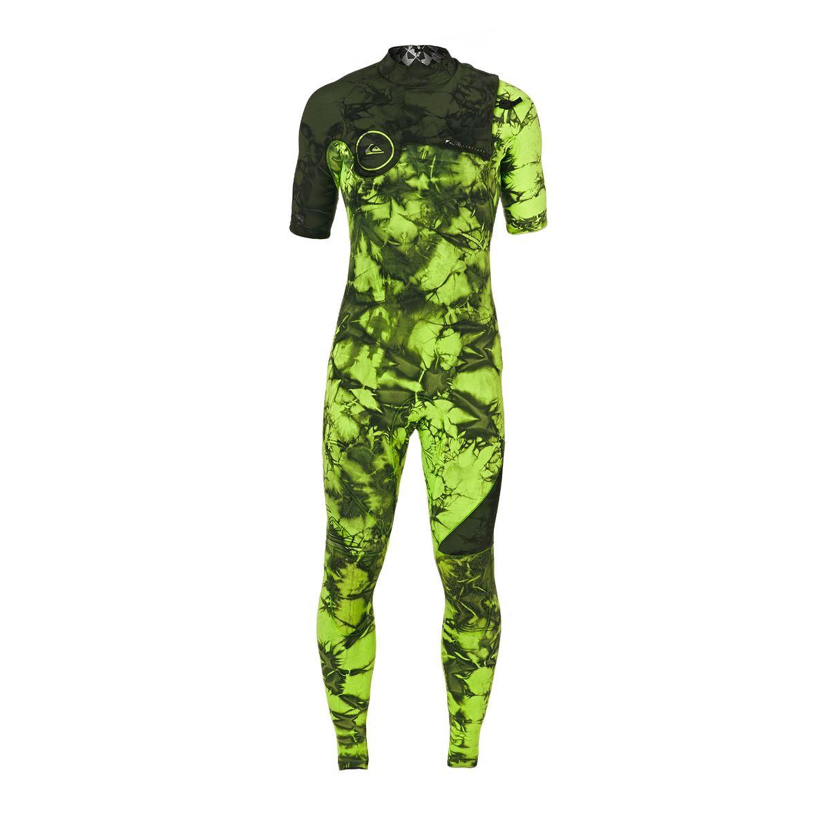 Quiksilver Highline Dye Capsule 2mm 2017 Short Sleeve Zipperless Wetsuit - Green Flash