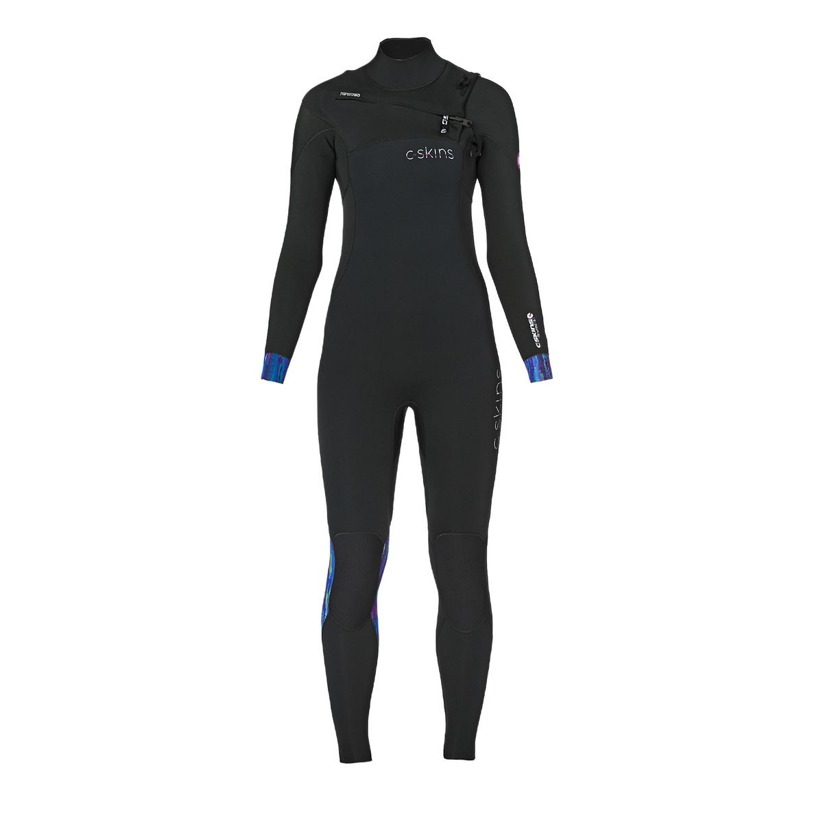 C-Skins Womens Rewired 4/3mm 2017 Chest Zip Wetsuit - Grey/ Sub