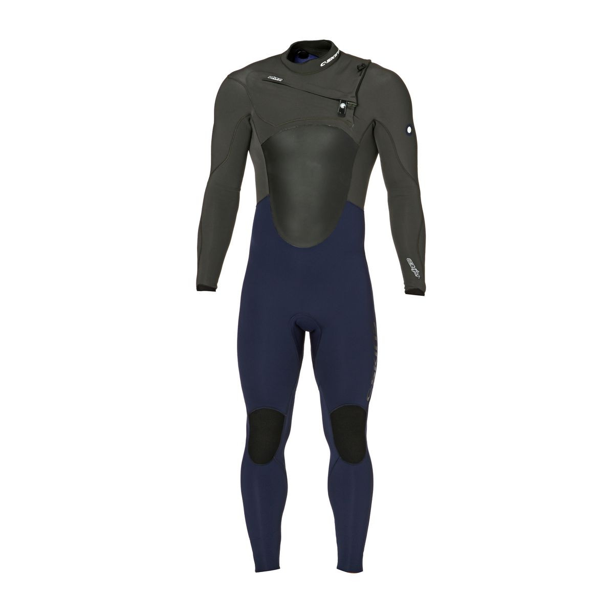 C-Skins Wired 4/3mm 2017 Chest Zip Wetsuit - Ink Blue/ Grey