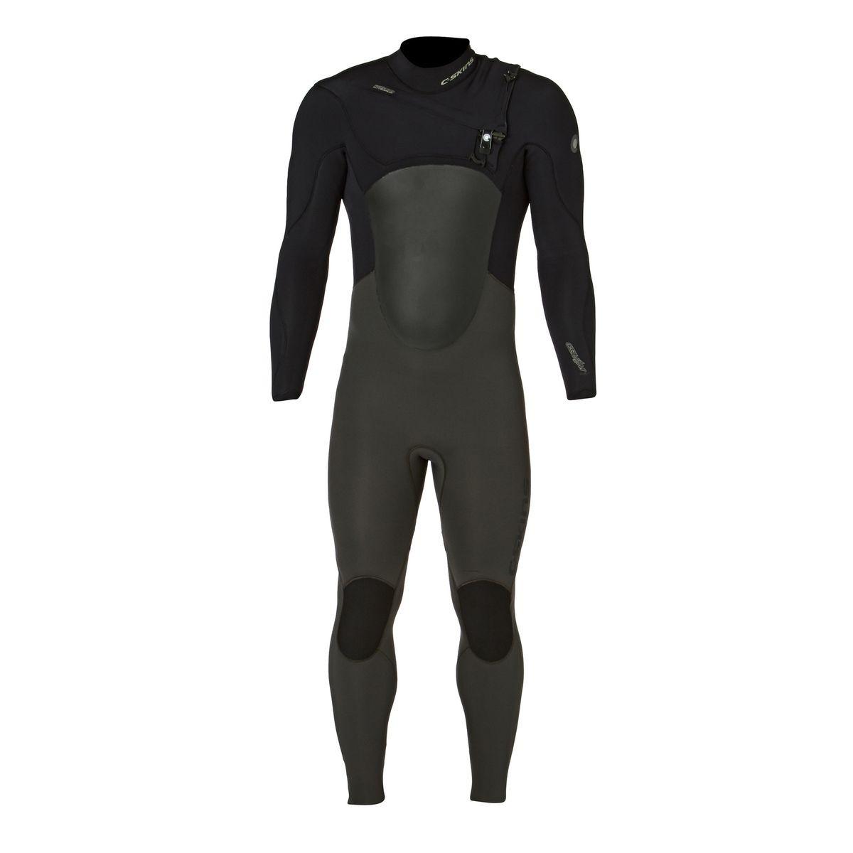 C-Skins Wired 5/4mm 2017 Chest Zip Wetsuit - Grey/ Black