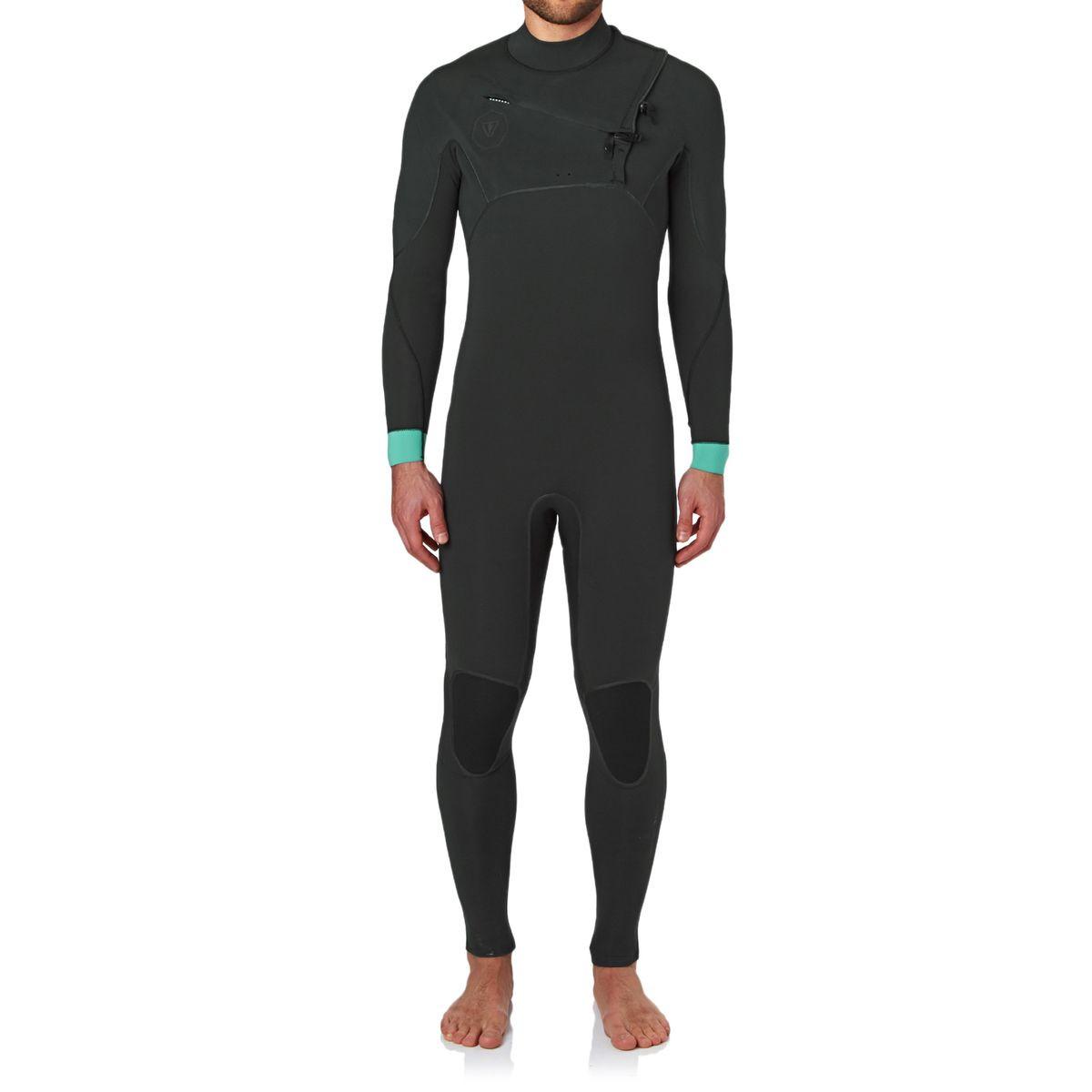 Vissla Eco Seas 3/2mm 2017 Chest Zip Wetsuit - Stealth