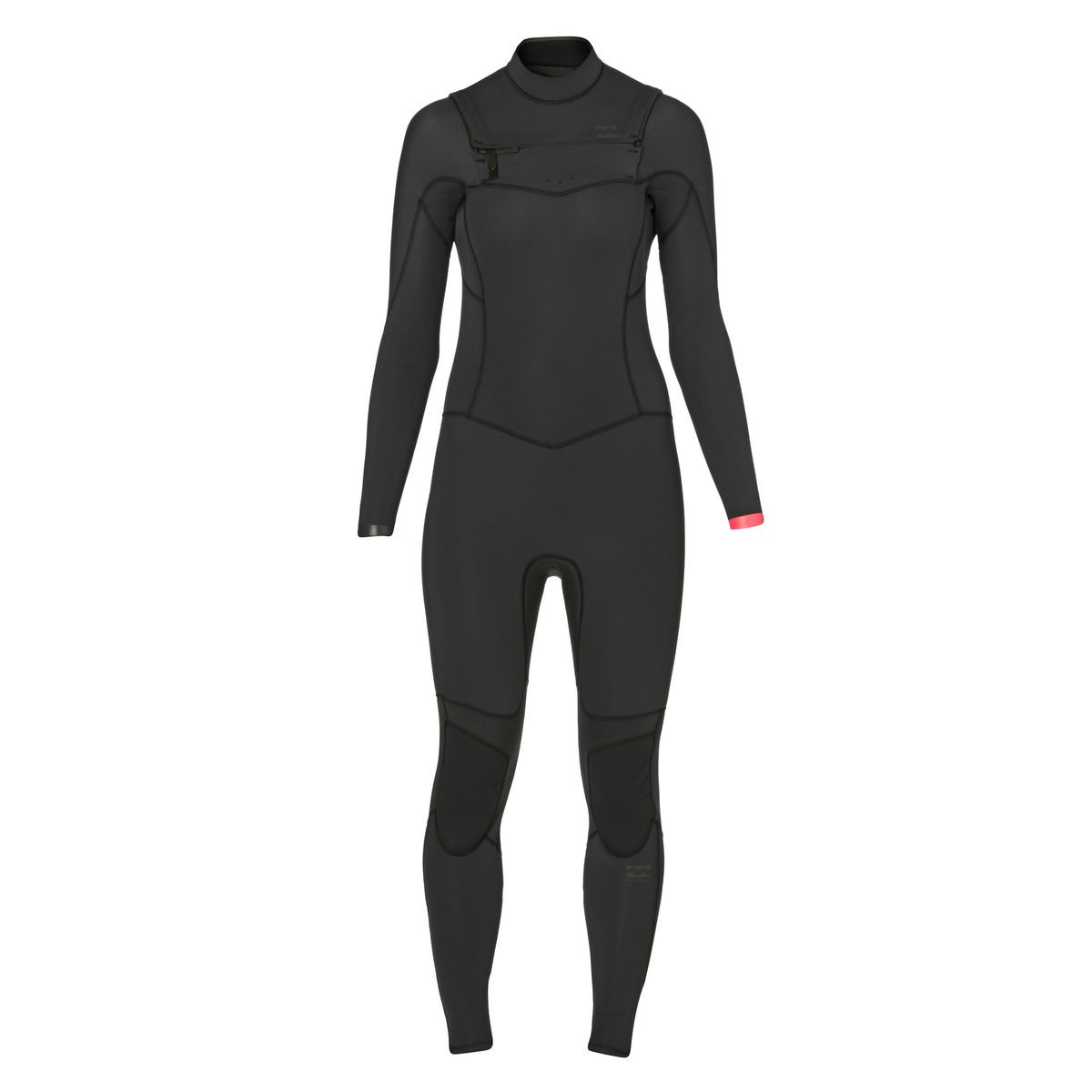 Billabong Womens Synergy 4/3mm 2017 Chest Zip Wetsuit - Black Sands