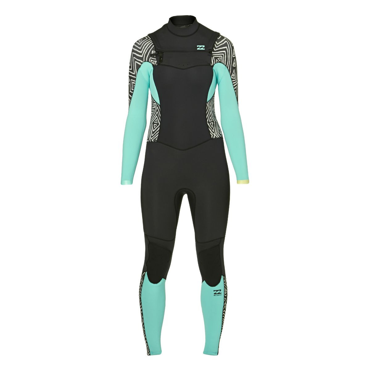 Billabong Womens Synergy 4/3mm 2017 Chest Zip Wetsuit - Geo Diamond