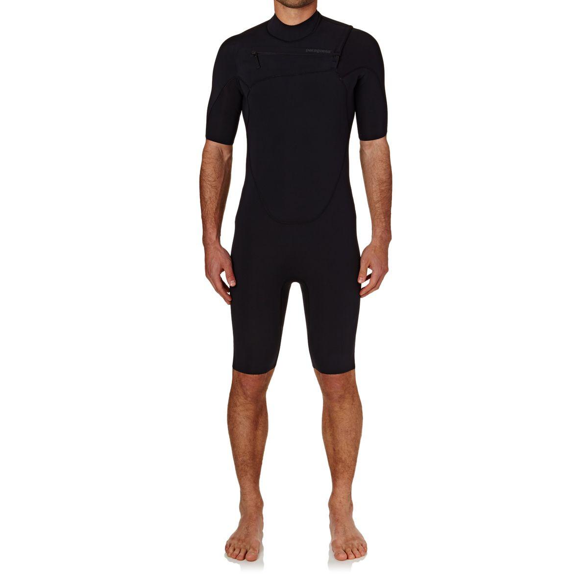Patagonia R1 Lite Yulex Chest Zip Shorty Wetsuit - Black