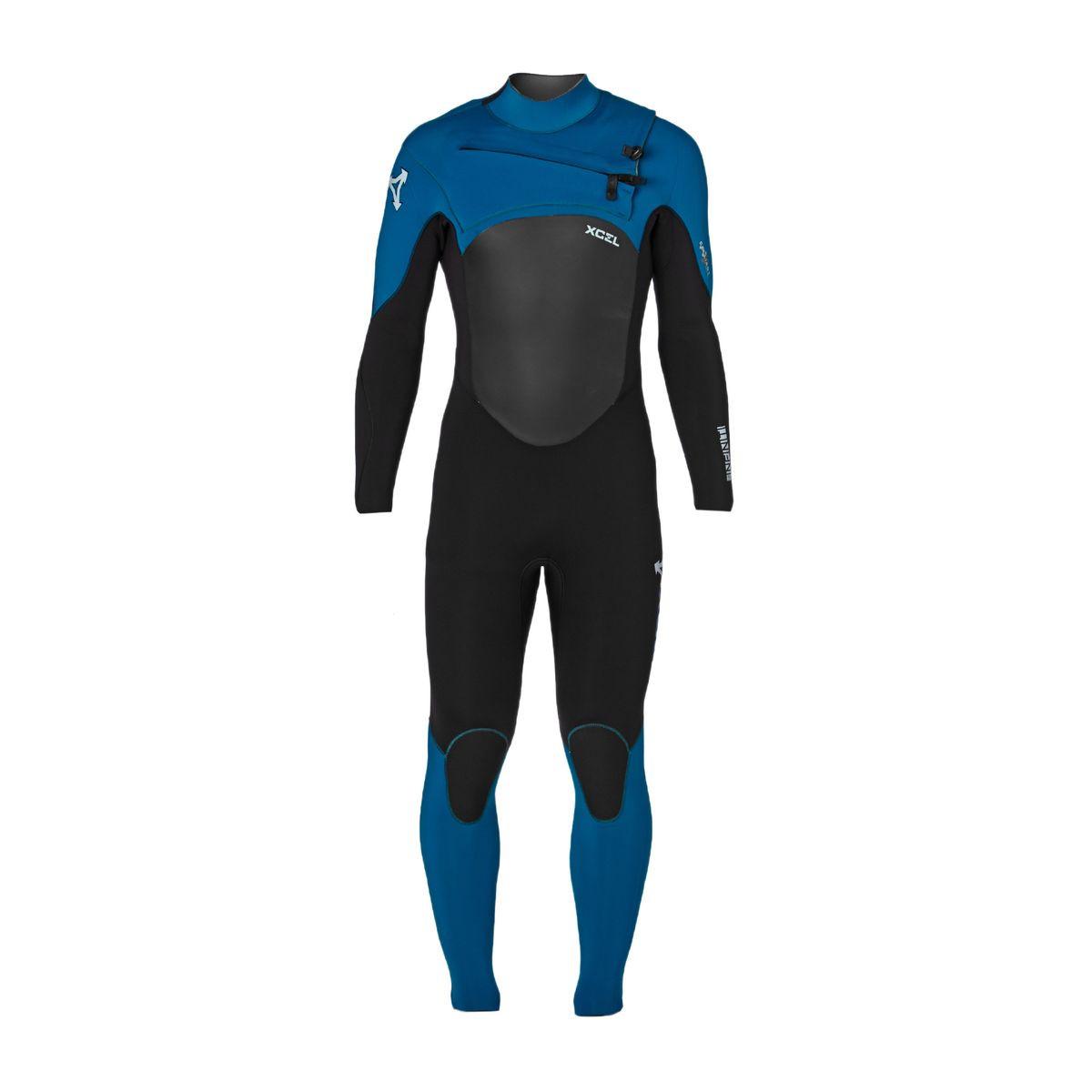 Xcel Infiniti 5/4/3mm X2 2017 Chest Zip Wetsuit - Black/ Nautical