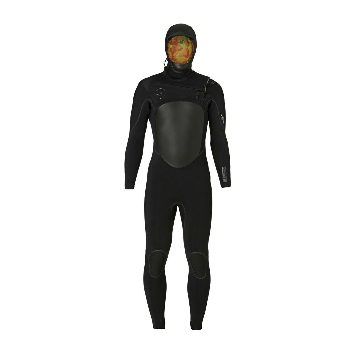 Xcel Drylock 5/4mm X2 TDC 2017 Hooded Chest Zip Wetsuit - Black