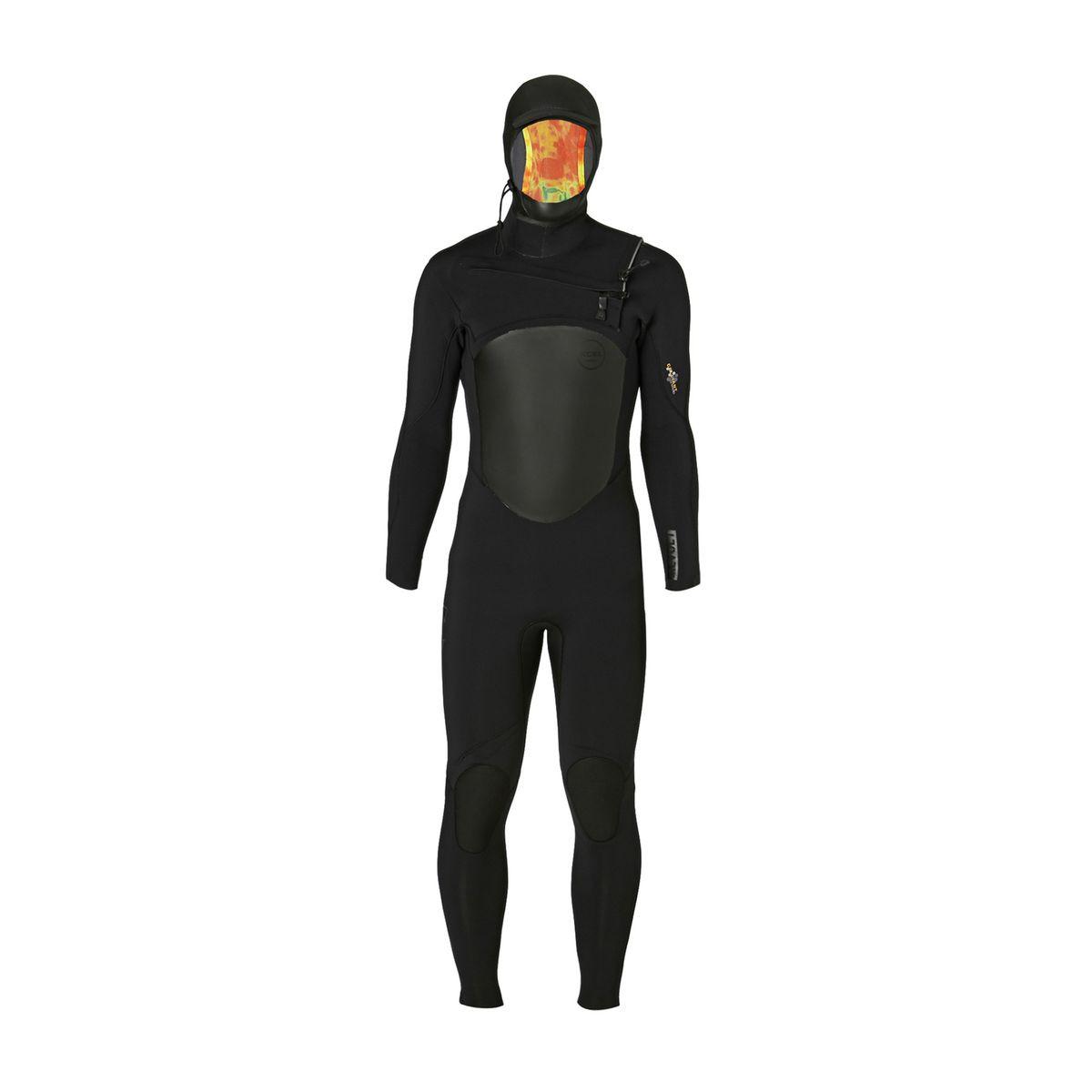 Xcel Revolt 5/4/3mm Hooded X2 2017 Chest Zip Wetsuit - Black