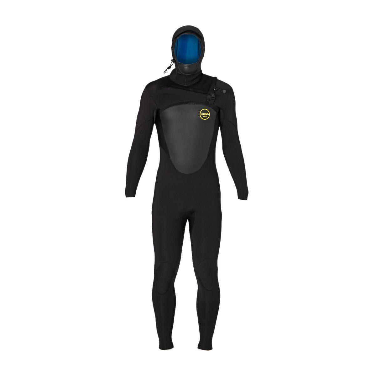 Xcel Axis 5/4mm X2 2017 Hooded Chest Zip Wetsuit - Black