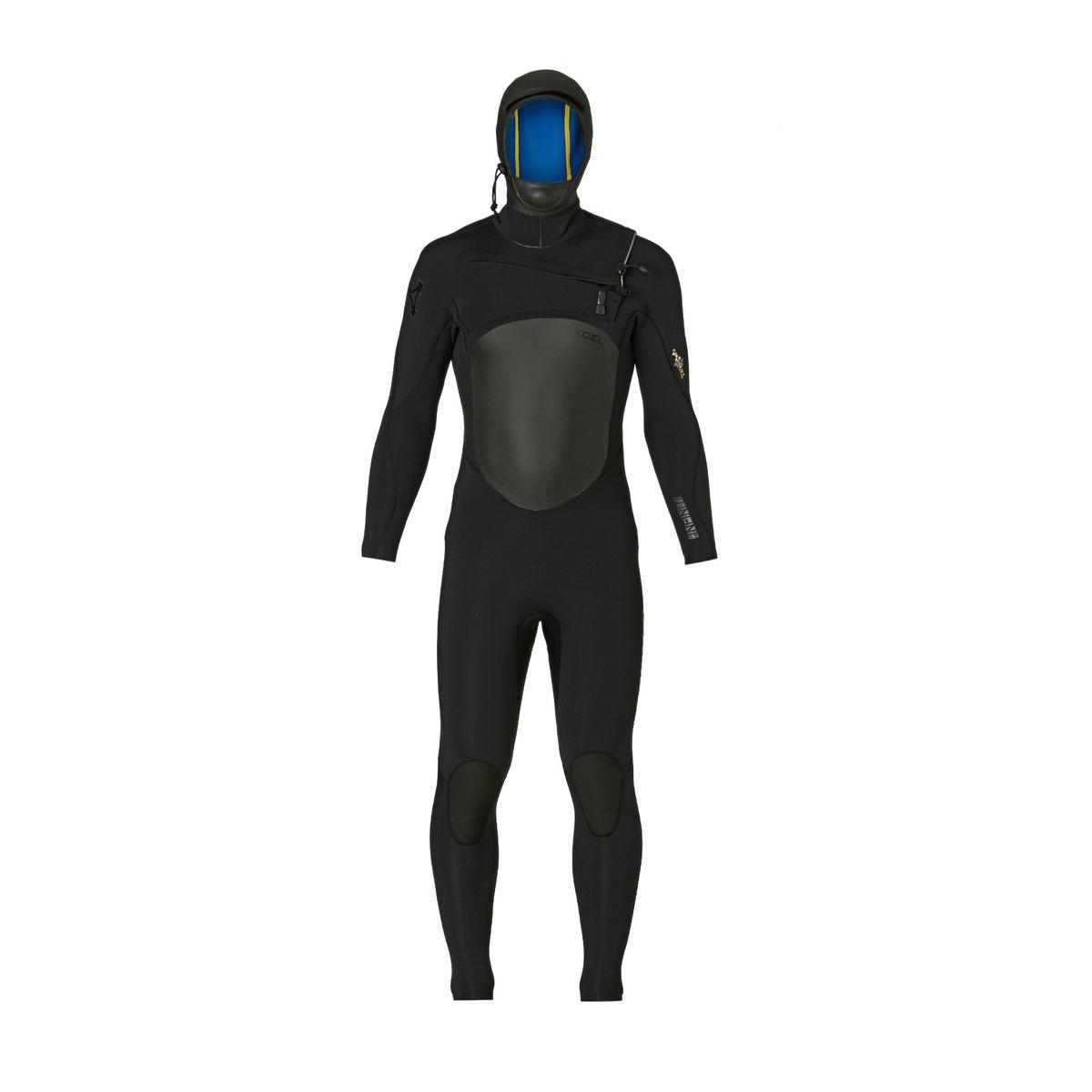 Xcel Infiniti 6/5/4mm Hooded X2 2017 Chest Zip Wetsuit - Black