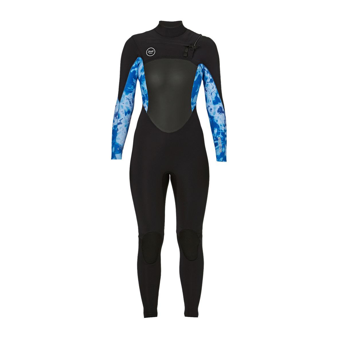Xcel Women's Infiniti 4/3mm 2017 X2 Chest Zip Wetsuit - Black/ Blue Print