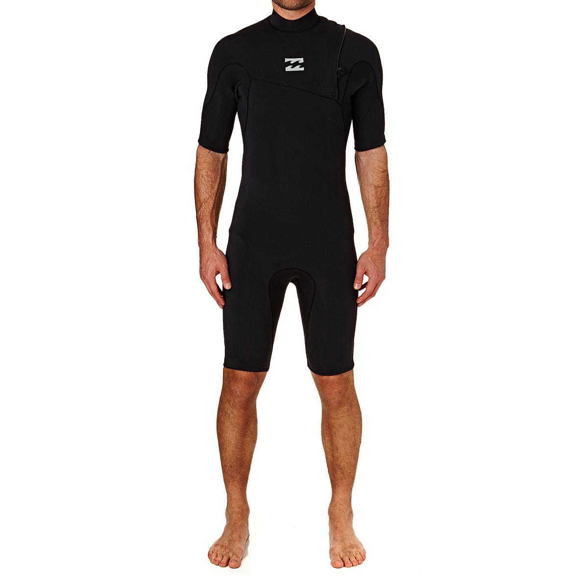 Billabong Pro Series 2mm 2017 Zipperless Short Sleeve Shorty Wetsuit - Black
