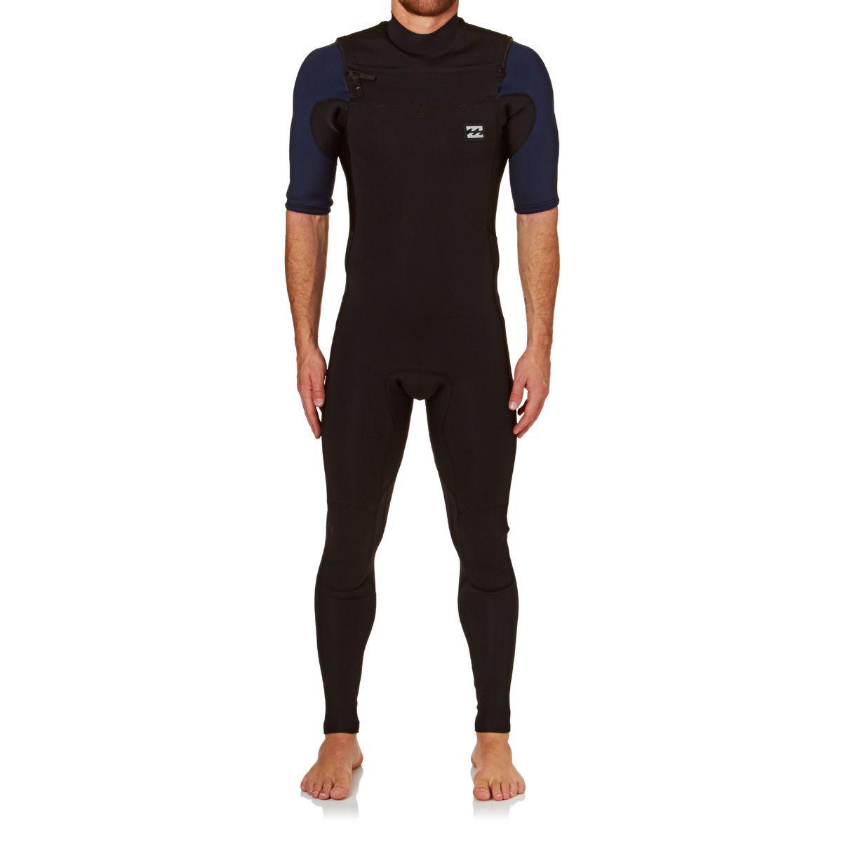 Billabong Revolution Tri Bong 2mm 2017 Chest Zip Short Sleeve Wetsuit - Black